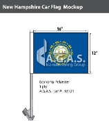 New Hampshire Car Flags 12x16 inch