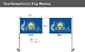 New Hampshire Car Flags 10.5x15 inch