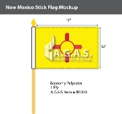 New Mexico Stick Flags 12x18 inch
