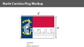 North Carolina Flags 4x6 foot