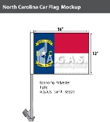 North Carolina Car Flags 12x16 inch
