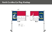 North Carolina Car Flags 10.5x15 inch