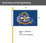 North Dakota Stick Flags 12x18 inch