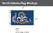 North Dakota Flags 12x18 inch