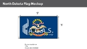North Dakota Flags 3x5 foot