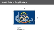 North Dakota Flags 4x6 foot