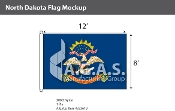 North Dakota Flags 8x12 foot
