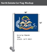 North Dakota Car Flags 12x16 inch