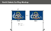 North Dakota Car Flags 10.5x15 inch