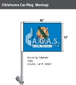 Oklahoma Car Flags 12x16 inch
