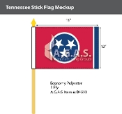 Tennessee Stick Flags 12x18 inch