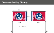 Tennessee Car Flags 10.5x15 inch