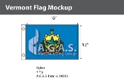 Vermont Flags 12x18 inch