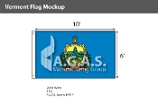 Vermont Flags 6x10 foot