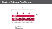 District of Columbia Flags 3x5 foot