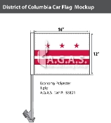 District of Columbia Car Flags 12x16 inch
