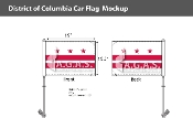District of Columbia Car Flags 10.5x15 inch