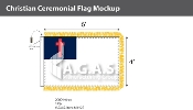 Christian Ceremonial Flags 4x6 foot