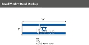 Israel Window Decals 3x10 inch