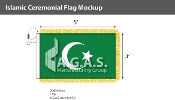 Islamic Ceremonial Flags 3x5 foot
