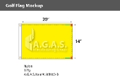 Blank Yellow Golf Flags 14x20 inch