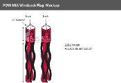 POW MIA Windsocks 60x5.5 inch (black & red)