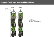 Support Our Troops Windsocks 60x5.5 inch (camouflage background)