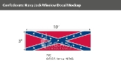 Confederate Navy Jack Window Decals 3x10 inch