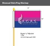 "Bisexual Stick Flag 12""X18"""