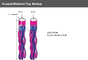 Bisexual Windsock 60""