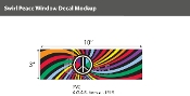 "Swirl Peace Static Clings 3""X10"""