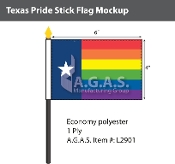 "Texas Pride Stick Flag 4""X6"""