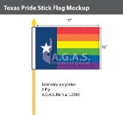 "Texas Pride Stick Flag 12""X18"""
