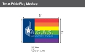 Texas Pride Flag 2'X3'