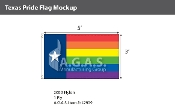 Texas Pride Flag 3'X5'