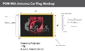 POW MIA Antenna Flags 4x6 inch (black & red)