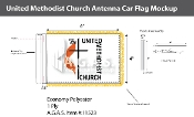 Methodist Antenna Flags 4x6 inch
