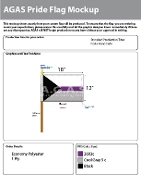 "Demisexual Stick Flag 12""X18"""