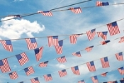 US Flag Pennant Streamers Image