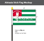 Abkhazia Stick Flags 4x6 inch