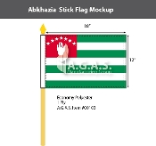Abkhazia Stick Flags 12x18 inch