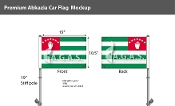 Abkhazia Car Flags 10.5x15 inch Premium