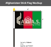 Afghanistan Stick Flags 4x6 inch