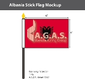 Albania Stick Flags 4x6 inch