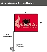 Albania Car Flags 12x16 inch Economy