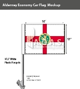 Alderney Car Flags 12x16 inch Economy
