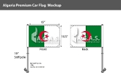 Algeria Car Flags 10.5x15 inch Premium