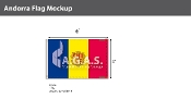 Andorra Flags 4x6 foot (with seal)
