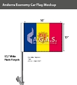 Andorra Car Flags 12x16 inch Economy (with seal)