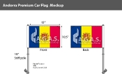 Andorra Car Flags 10.5x15 inch Premium (with seal)